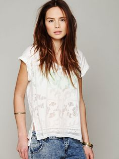 Free People Bold and Beautiful Burnout Tee  http://www.freepeople.com/whats-new/bold-and-beautiful-burnout/