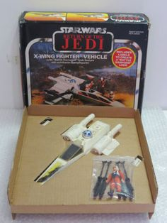 Palitoy-1983-Star-Wars-ROTJ-X-WING-Fighter-rare-vintage-boxed-w-insert-Figure