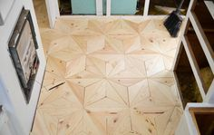 Geometric Plywood Flooring