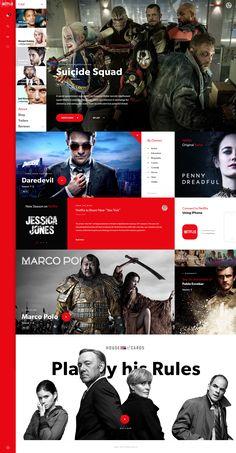 Netflix Redesign Concept - Mery J Kendy Creative Web Design, App Design, News Design, House Of Cards, Web Design Projects, Bulletins, Wordpress Theme Design, Website Layout, Website Design Inspiration