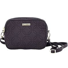 """#Caviar Microfiber Uptown Crossbody6-3/4"""" Wide x 1-3/4"""" Deep x 4-3/4"""" Tall The simplified sleek body of the Uptown Crossbody is perfect for use during busy days ..."""
