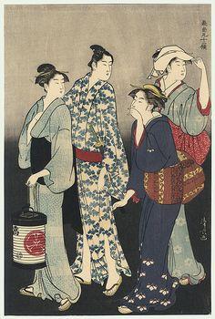 the seventh month / kiyonaga / 1752 - 1815