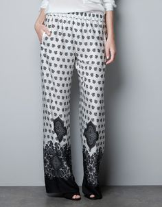 PRINTED TROUSERS - Trousers - Woman - ZARA