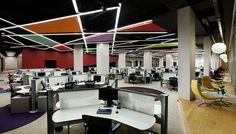 The recently completely offices of Istanbul-based eBay – GittiGidiyor were completely by OSO Architecture of Istanbul, Turkey. The company took over 2,000 square meters of office space and turned it into an open, modern environment that looks like a fun place to work.