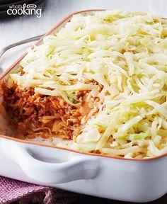 Easy Layered Cabbage Casserole #recipe