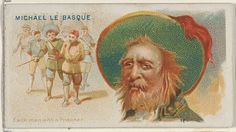 """Michael Le Basque, Each Man with a Prisoner, from the """"Pirates of the Spanish Main"""" series (N19), for Allen & Ginter Brand Cigarettes, c1888."""