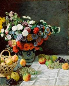 Monet's Still Life, Flowers and Fruit at The Getty Museum, Los Angeles