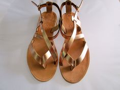 Toe Ring Sandals, Bridal Sandals, Gold Sandals, Brown Sandals, Toe Rings, Gladiator Sandals, Shoes Photo, Leather Sandals Flat, Greek Sandals