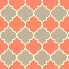 Moorish - coral & dove fabric by kayajoy for sale on Spoonflower - custom fabric, wallpaper and wall decals