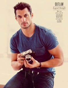David Gandy on the other side of the camera for a change
