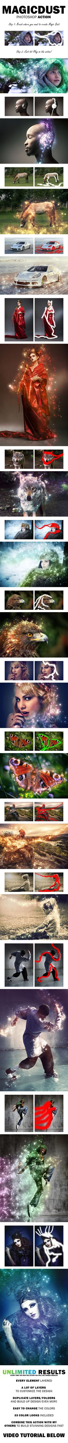 MagicDust Photoshop Action #photoeffect Download: graphicriver.net/...