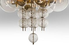 Kamenicky Šenov, Pair of Czech Brass and Handblown Glass Chandeliers 5 Vintage Chandelier, Chandelier Pendant Lights, Chandeliers, Contemporary Lamps, Unique Lighting, Glass Globe, Hand Blown Glass, Cool Furniture, Canopy
