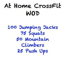 15 At Home CrossFit Workouts