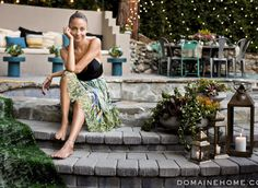 Nicole Richie's backyard oasis looks like the greatest chill party spot ever...