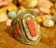Vintage Afghani Silver Cuff