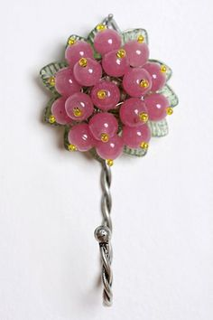 Beaded Flower Hook - Urban Outfitters