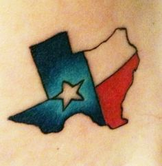 My second tattoo one my foot! Born and raised! Texas pride!