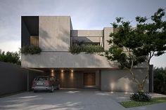 Minimal Architecture, Modern Architecture House, Facade Architecture, Modern Buildings, Duplex Design, Villa Design, House Cladding, Facade House, Minimal House Design