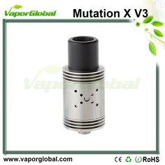 "Mutation X V3 RDA atomizer Specifications 1.The 18 airflow airholes are upgraded to be reasonablely tilted, changing the way the air hits the coils and allowing a ""Hurricane"" effect inside the rda. 2.The central positive post is thinner,creating more spac"