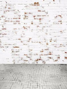 Kate White Wall With Red Brick Photo Backdrop