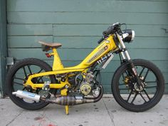 Posts about custom moped written by tomahawktuning Scooter 50cc, Scooter Motorcycle, Puch Moped, Cool Bicycles, Cool Bikes, Peugeot 103, Cafe Racer Honda, Cafe Racers, Bike Icon