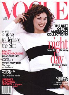 Vogue US February 1996 - Shalom Harlow