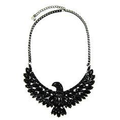 Экзотические черный себе ожерелье летящего орла кулон ожерелье старинные ювелирные изделия мода ожерелья для женщин 2015 творческий бижутерии купить на AliExpress