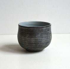 Wakako Senda 千田稚子 White Striped Black Mug 13003021 by WakakoSenda on Etsy, $35.00