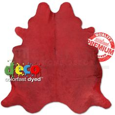 Hand Picked - Dyed Premium Cowhide - Solid Red - Large