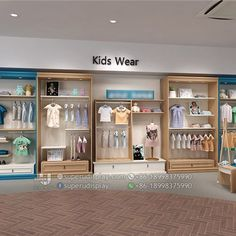 Fashion Store Design, Clothing Store Design, Baby Store Display, Wooden Dining Table Designs, Kids Toy Store, Clothing Store Displays, Childrens Shop, Store Interiors, Shop Interior Design