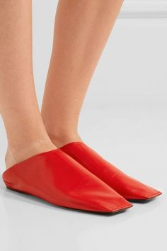 Balenciaga - Leather Slippers - Red - IT41.5
