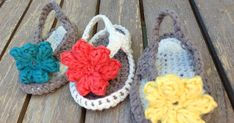 Baby  Flip Flops Free Pattern   By AnnooCrochet Designs                Aren't these adorable?  I forgot How small baby feet are, Even my 5 ...