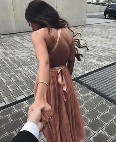Blush prom dress,V neck Tulle Long Prom Dress,A Line Party Dress with Lace up Back,Simple Formal Dress