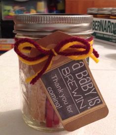Harry Potter baby shower favor, inside: English breakfast tea and some butter cookies.