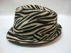 547c8962ad74c Brand New Zebra Stripes Tweed Furry Trilby Gothic Fedora Hat Bucket by AMC.   11.99. 100% Brand New. L XL  23.2