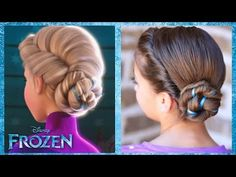 I didn't get rid of my bangs, so my Elsa coronation hair would look good if it was long enough. I'm growing it out just so I can do Elsa hair. Frozen Hairstyles, Disney Hairstyles, Cute Girls Hairstyles, Pretty Hairstyles, Girls Hairdos, Princess Hairstyles, Wedding Hairstyles, Elsa Coronation, Diy Braids
