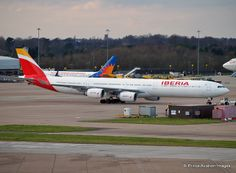 Iberia's first A340-600 in the new color scheme (EC-LEV)
