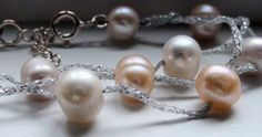 Three Strand Freshwater Pearl Sterling Silver Bracelet
