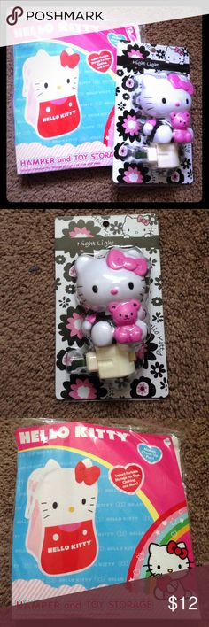 Hello Kitty Bundle Hamper and storage for toys, clothing and more. Night light (indoor use) Both Brand New. Final price. Hello Kitty Accessories