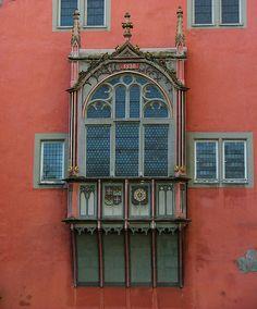 Schoeffenhaus Oriel Window ~ by Larry Myhre, via Flickr