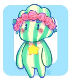 "paichi-art: "" I'm in love with this tiny, chubby watermelon Steven (*´▽`*) """