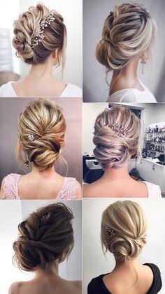coiffures de mariage updo pour les mariées élégantes