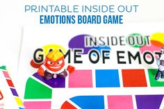 Inside Out games have never been more fun. Play this Printable Inside Out Emotions Board Game to teach colors and emotions to young children! Elementary Counseling, Counseling Activities, Therapy Activities, School Counseling, Play Therapy, Speech Therapy, Work Activities, Therapy Tools, Inside Out Games