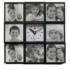 Infinity Instruments Cherished Memories Picture Frame/Wall Clock