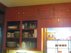 Red in the kitchen