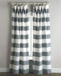 """""""Tuscany"""" Stripe Curtains by Legacy Home at Horchow."""