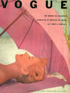 Vintage Paris Vogue #umbrellas