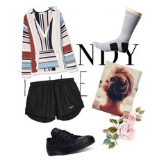Hangout with friends by kidrxuhll on Polyvore featuring Tory Burch, NIKE and Converse