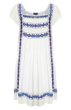 embroidered smock dress / topshop