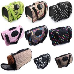 New 2016 hot Nylon portable Cat transport bag for small dogs Soft Colorful Folding travel bag carrier for Dogs goods for animals